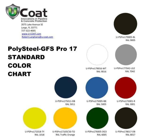 PolySteel-GFS-Pro17 Color Chart